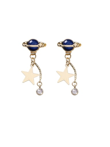 Alloy With Imitation Gold Plated Fashion Star Drop Earrings