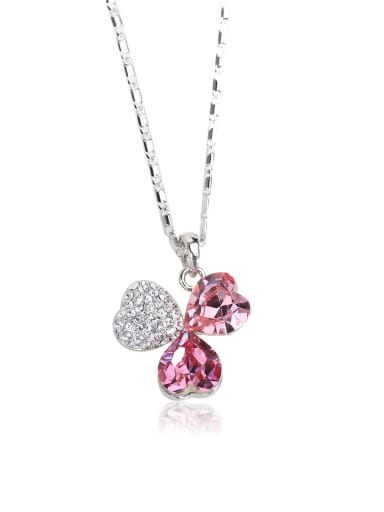 Happiness clover Swarovski element crystal necklace Multi-color optional