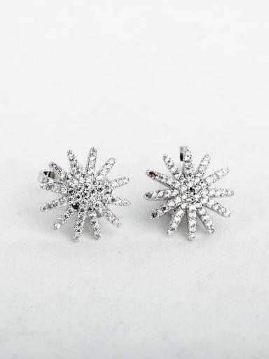 bling bling Sunflower Cluster Earrings