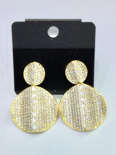 Copper With Gold Plated Fashion Irregular Stud Earrings