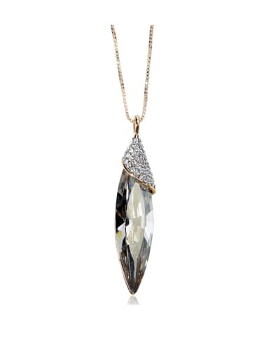 New bling bling Slender, drop-shaped, SWAROVSKI element crystal necklace