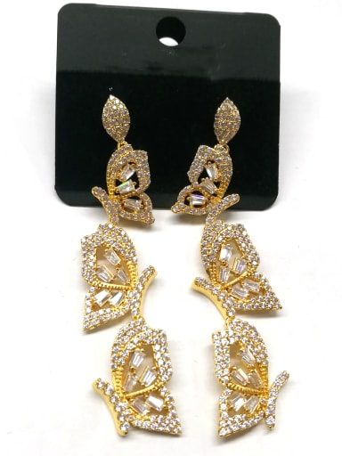 Copper With Gold Plated Fashion Butterfly Earrings