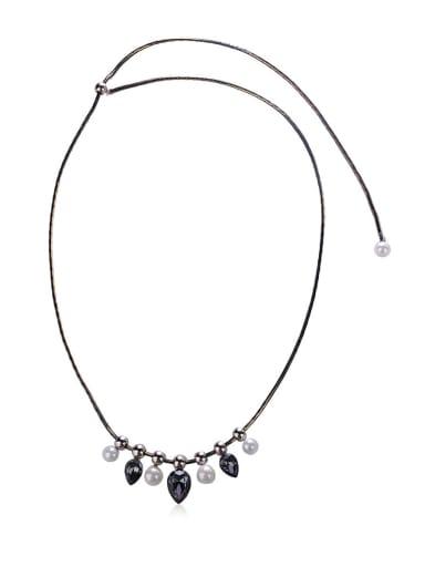 Drop-shaped semi-precious stones Necklace