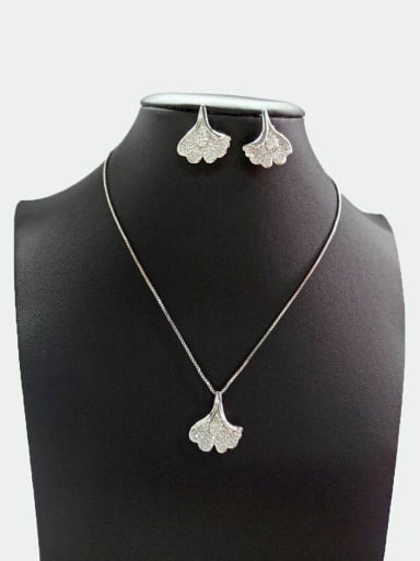 Copper With White Gold Plated Delicate Jewelry Sets