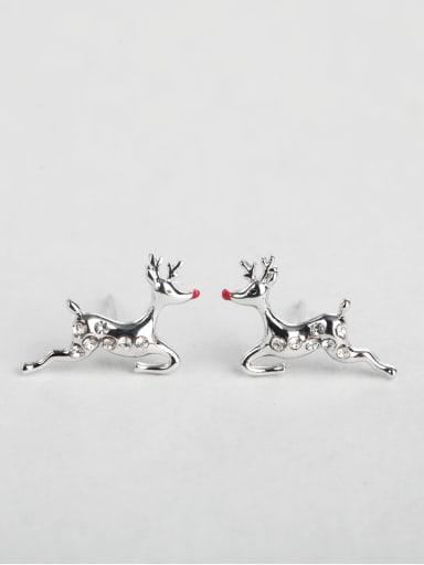 deer zircon cuff earrings