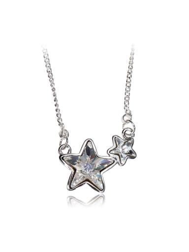 Unique stars Swarovski element crystal necklace