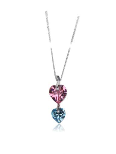 Love crystal Swarovski element crystal necklace Multi-color optional