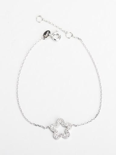 Minimalist design Rhinestone  Star 925 silver Bracelets