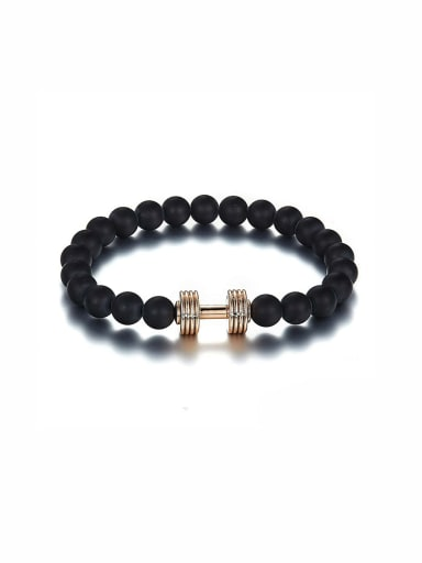 Zinc Alloy Black Beads Beautiful Bracelet