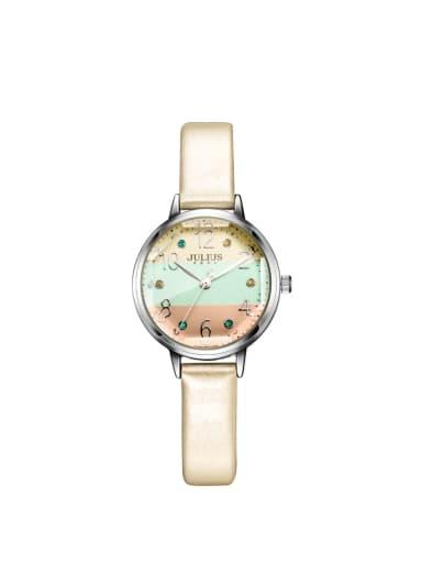 Model No A000475W-002 Women 's Beige Women's Watch Japanese Quartz Round with 24-27.5mm