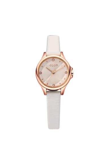Model No A000459W-003 Women 's White Women's Watch Japanese Quartz Round with 24-27.5mm