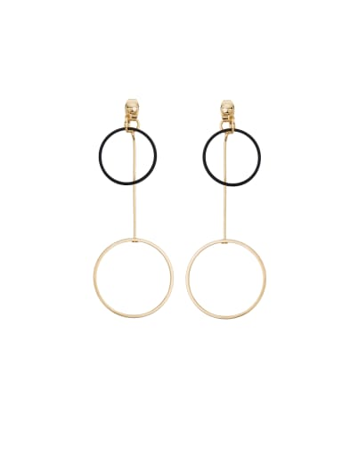 Model No 1000003937 Personalized Gold Plated Zinc Alloy Gold Round Drop drop Earring