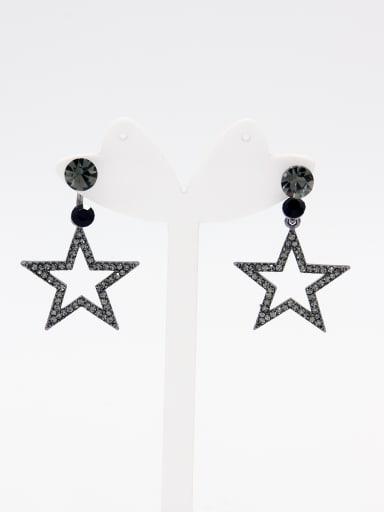 Star Zinc Alloy Rhinestone Grey Drop drop Earring