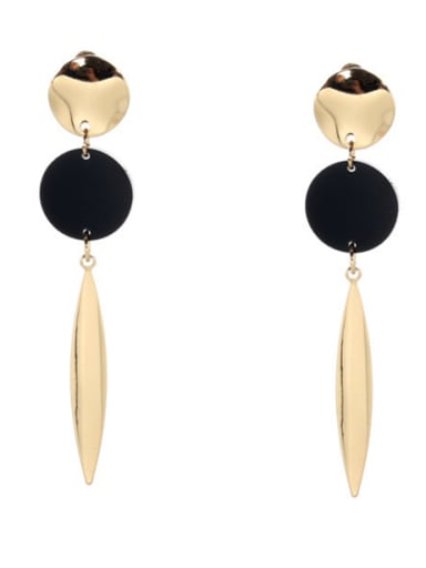 Feather style with Gold Plated Zinc Alloy Acrylic Drop drop Earring