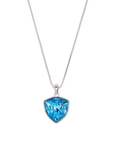 Platinum Plated Zinc Alloy Heart Swarovski Crystals Necklac