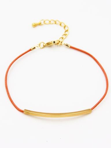 Orange  Bracelet with Gold Plated