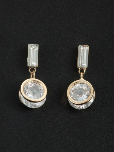 Model No 1000000974 Blacksmith Made Gold Plated Zircon Round Drop drop Earring