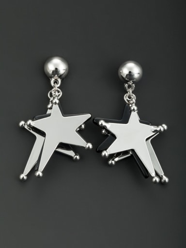 New design Platinum Plated Star Drop drop Earring in Multicolor color