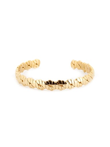 Personalized Gold Plated Titanium Gold Bangle