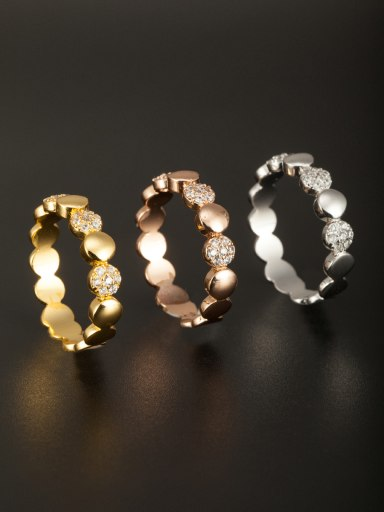 The new  Copper Zircon Ring with Multi-Color  Combination of the ring