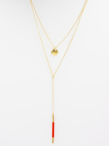 Mother's Initial Orange Chain with chain
