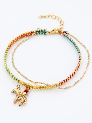 Multi-Color Animal Motif Youself ! Copper   Bracelet