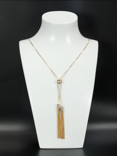 Gold Plated chain White Zircon Beautiful Necklace