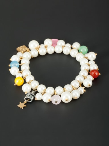 Model No S206038-001 Fashion Gold Plated Star Bracelet