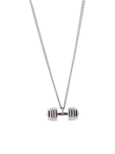 A Silver-Plated Titanium Stylish  necklace Of Personalized