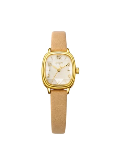 Model No 1000003129 24-27.5mm size Alloy Square style Genuine Leather Women's Watch