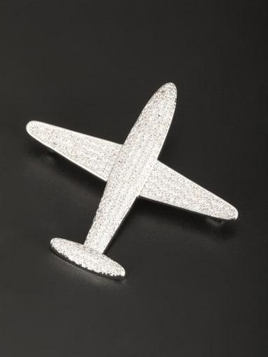 Model No 1000002458 Personalized Platinum Plated White Zircon Lapel Pins & Brooche