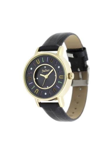 Model No 1000003356 24-27.5mm size Alloy Round style Genuine Leather Women's Watch