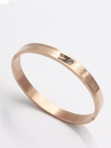 Model No A000050H-001 Blacksmith Made Stainless steel Zircon  Bangle  63MMX55MM