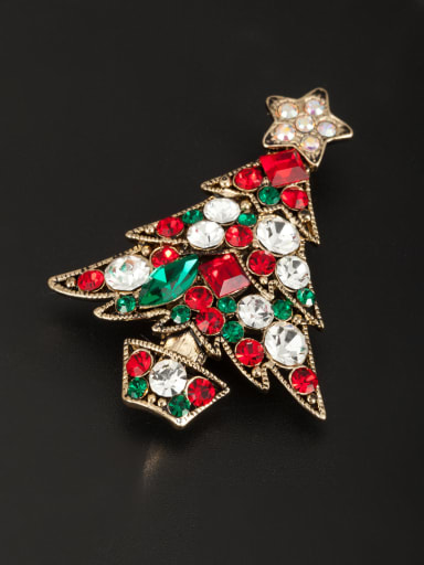 Multi-Color Star Lapel Pins & Brooche with Gold Plated Rhinestone