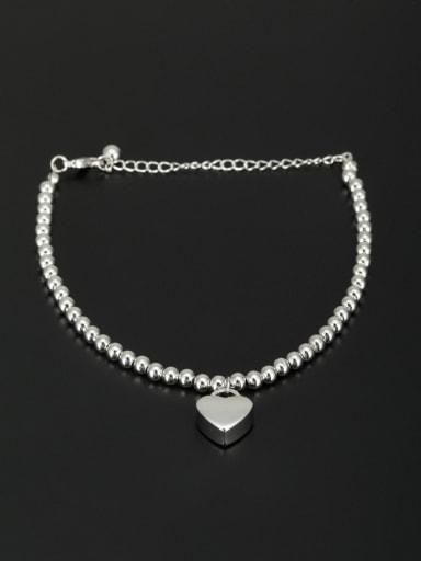 A Platinum Plated Stylish  Bracelet Of Heart