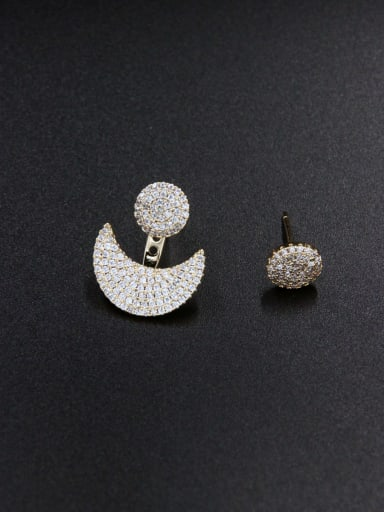 Gold Plated Zircon Studs stud Earring