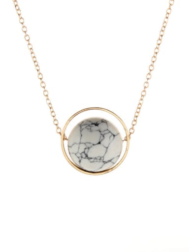 Gold Plated Zinc Alloy Round Necklac