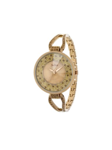 Fashion Champagne Alloy Japanese Quartz Round Alloy Women's Watch 24-27.5mm