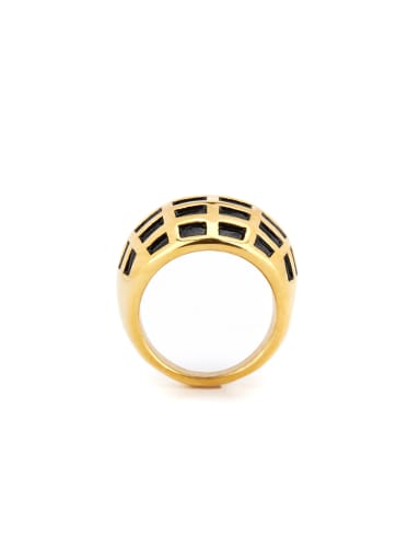 Gold Plated Titanium Geometric Band band ring