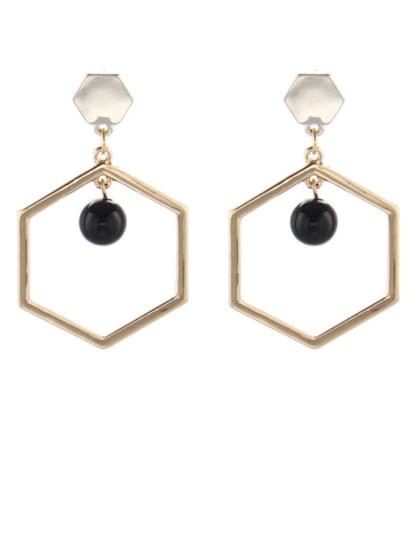 Personalized Gold Plated Zinc Alloy Gold Geometric Drop drop Earring