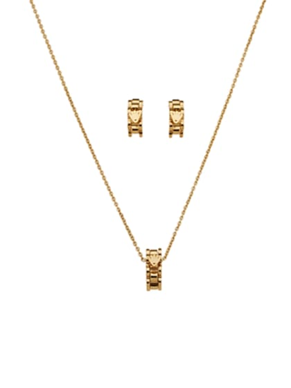 Custom Gold with Gold Plated Stainless steel 2 Pieces Sets - ToMade eaa6dd85e