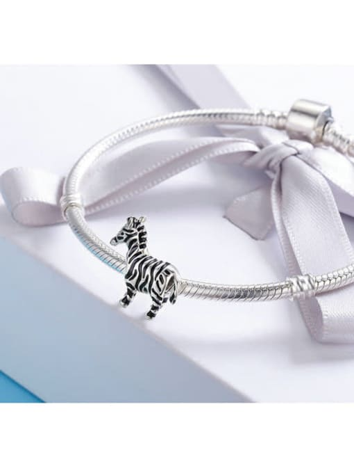 Maja 925 silver cute zebra charm