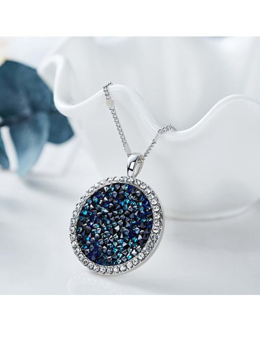 One Next Copper With White Gold Plated Simplistic Round Necklaces