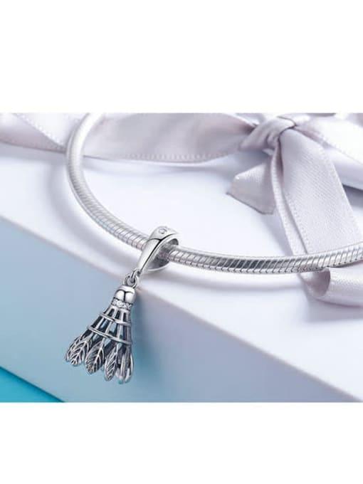 Maja 925 silver cute badminton charm