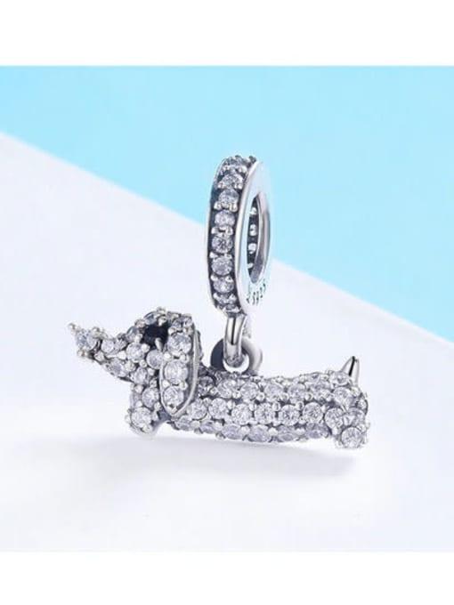 Maja 925 Silver Cute Dachshund charm