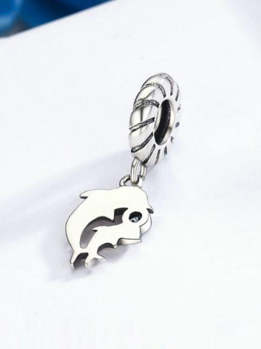 Maja 925 silver cute dolphin charm