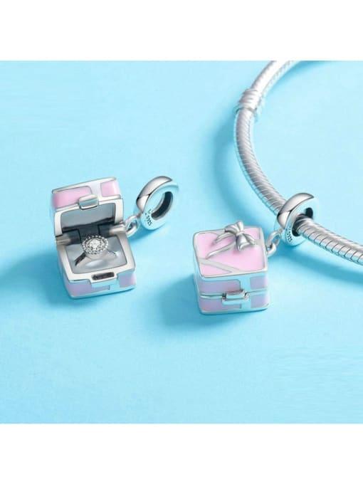 Maja 925 silver cute gift box charm