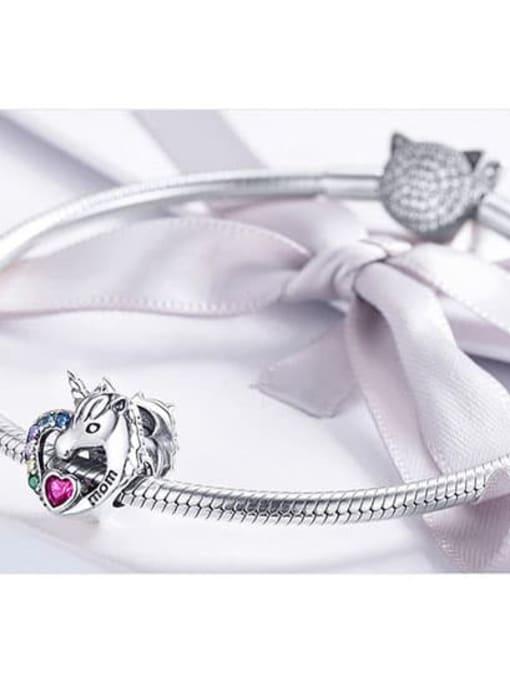 Maja 925 Silver Romantic Unicorn charm