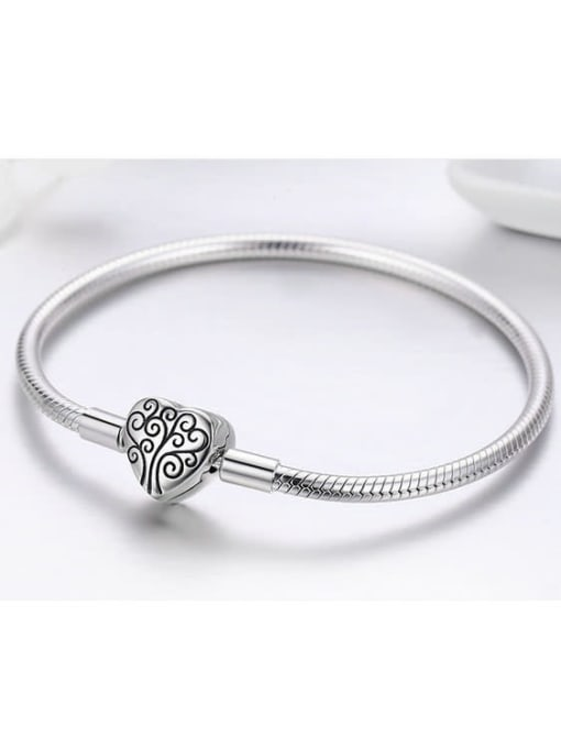 Maja 925 silver cute heart element basic bracelet