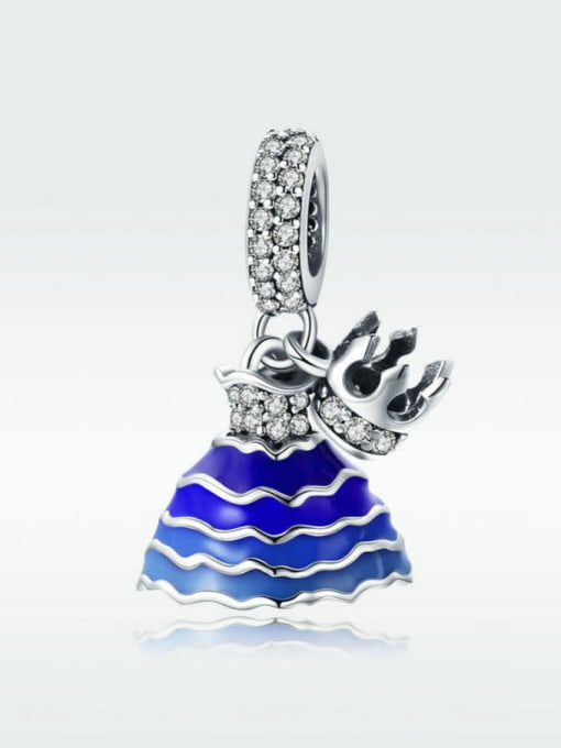 Maja 925 silver princess dress and crown charm